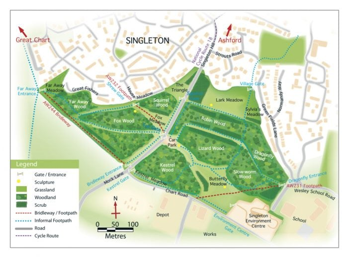 Map - Ashford Community Woodland