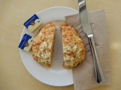 Halved cheese scone