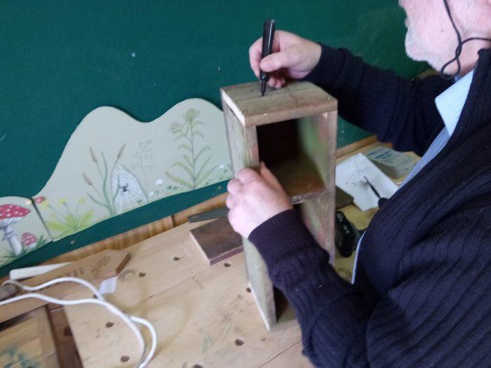 Ron making bird box