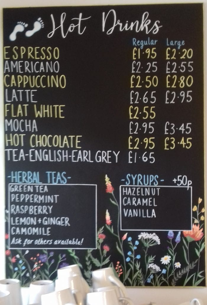 Hot Drinks Board